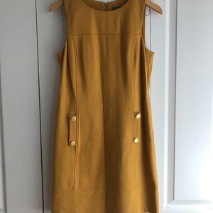 Vince Camuto Sleeveless Yellow Sheath Dress